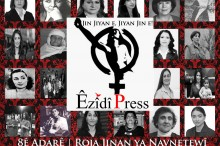 Collage einflussreicher êzîdîscher Frauen der Vergangenheit und Gegenwart