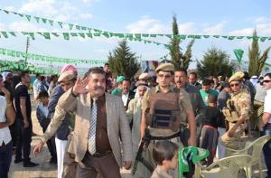 Kheri Shingali während einer PUK Wahlveranstaltung in Kurdistan