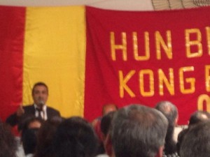 Şahap Dağ während seiner Rede an die Delegierten |© ÊzîdîPress