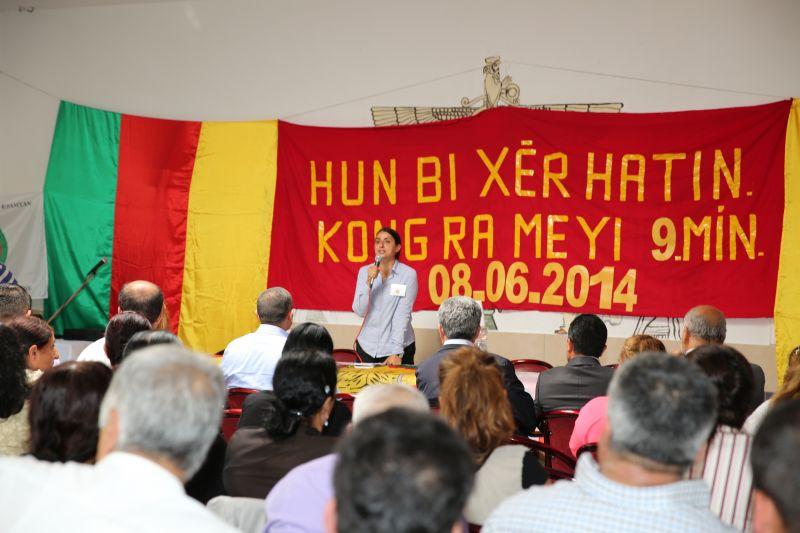Die ehemalige Ko-Vorsitzende der FEK, Feleknas Uça, während ihrer Rede an die Delegierten. | © ANF