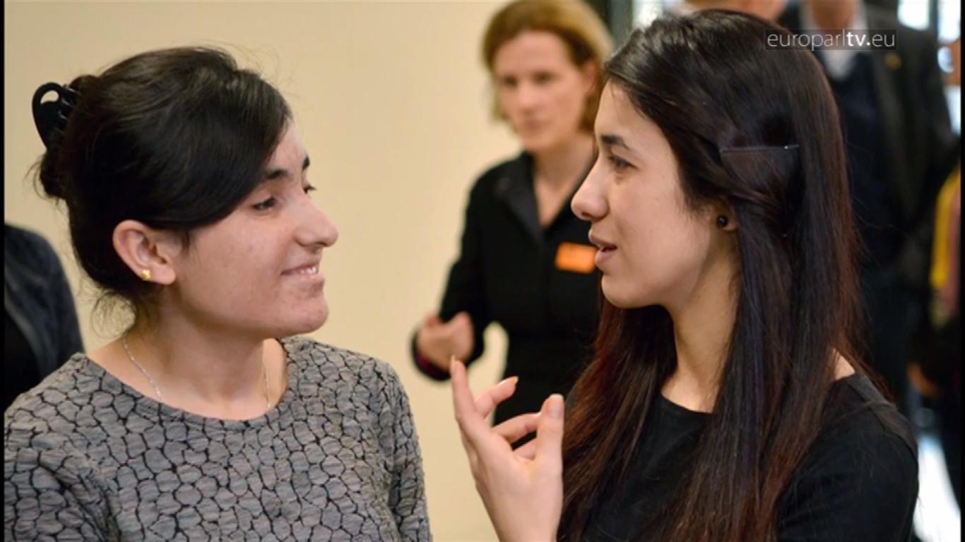 Lamiya Baschar (li.) und Nadia Murad mit Sacharow-Preis ausgezeichnet