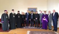 Bundestagspräsident Norbert Lammert (CDU) trifft auf Religionsvertreter in Georgien
