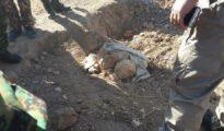 Im November 2016 entdecktes Massengrab in Shingal