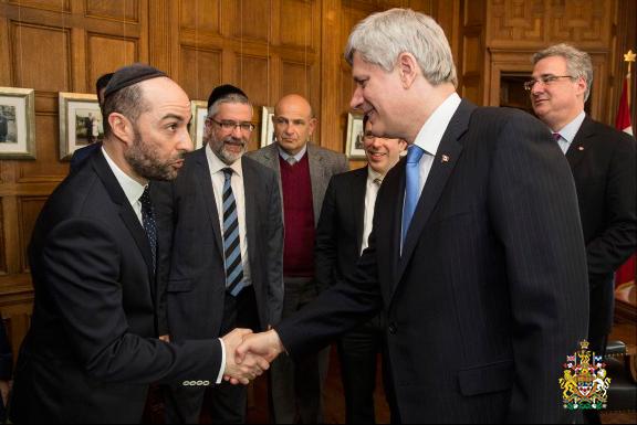 Steve Maman mit dem kanadischen Premierminister Stephen Harper