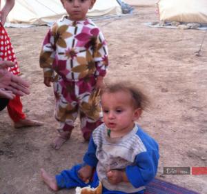 Êzîdîsche Kinder im Shingal-Gebirge