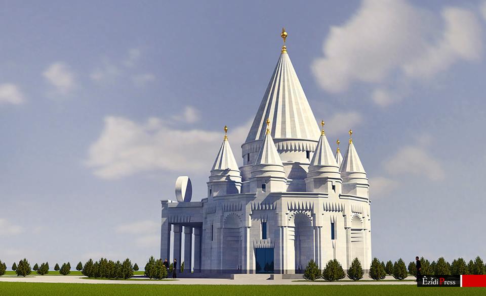 Design des neuen Tempels der Êzîden in Armenien (Artuk Ghulyan)