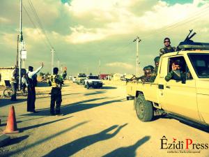 Einmarsch der Pêşmerga Truppen in Shingal | ©ÊzîdîPress