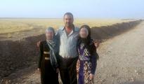Die 14 und 17-Jährige Êzîdînnen, die nach einem Jahr aus der IS-Gefangenschaft befreit werden konnten (ÊP)