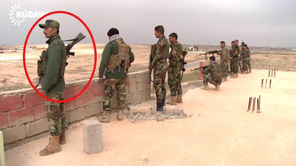 Rojava-Peshmerga mit einem M3 aus Deutschland (Scrrenshot Rudaw)