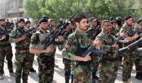 Schiitische Kämpfer in einem Trainingscamp in Bagdad. Foto: str