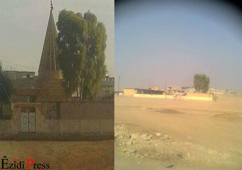 Pilgestätte Shaqsebat vor und nach der Zerstörung |ÊP