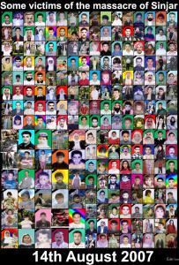Opfer der Terroranschläge am 14. August 2007 in Shingal
