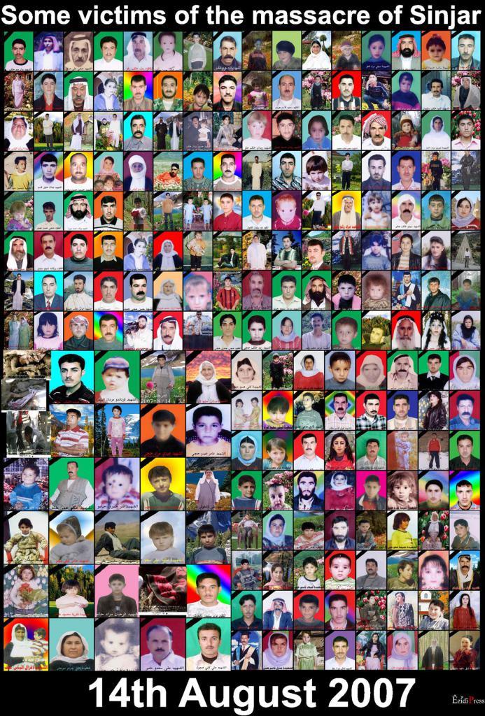 Einige Opfer des Shingal-Massakers von 2007