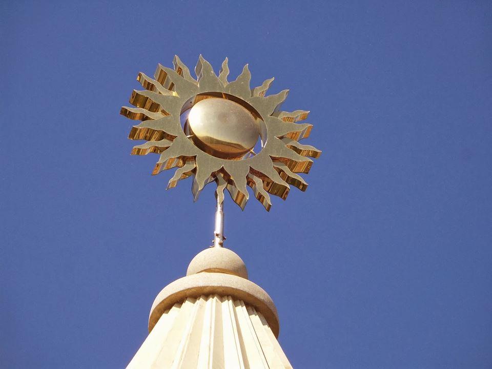 Sonnensymbol auf der Kuppel einer êzîdîschen Heiligenstätte