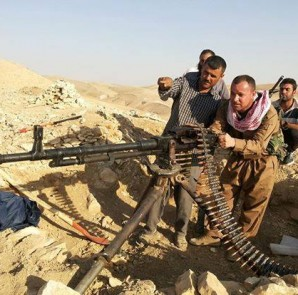 Kämpfer der Tawisî Melek Brigade in Shingal