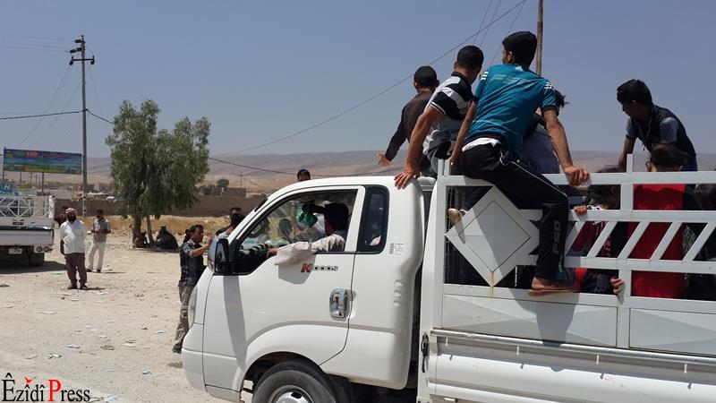 Menschen aus Tal Afar flüchten nach Shingal | ©ÊzîdîPress