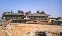 Konvoi der YPG in Sinune, Nord-Shingal am 25. Oktober 2015