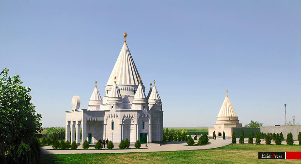 Der neue Tempel wird mit der bisherigen kleinen Pilgerstätte verbunden sein