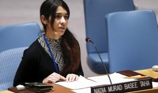 Nadia Murad während ihrer Rede vor dem UN-Sicherheitsrat (Reuters)