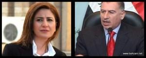 Êzîdîsche Abgeordnete Viyan Dakhil und der irakische Parlamentspräsident Osman Najafi