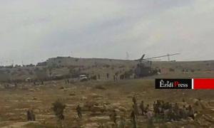 Helikopter im Shingal-Gebirge